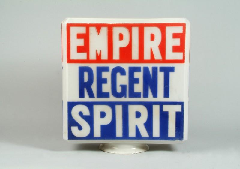 Rare Regent petrol pump globe Sold for £2,760 (inc. premium)