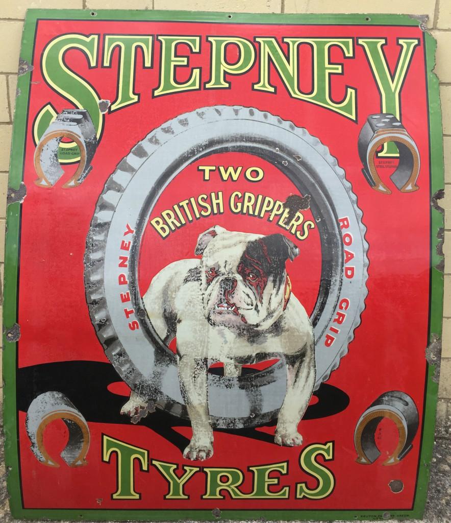 large-stepney-tyres-enamel-sign